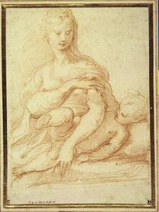The Virgin Playing with the Child on Her Lap by Parmigianino