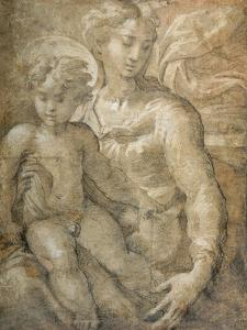 Virgin with the Child on Her Lap by Parmigianino