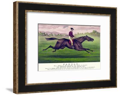 Parole: Brown Gelding, by Imp. Leamington, Dam Maiden by Lexington-Currier & Ives-Framed Art Print