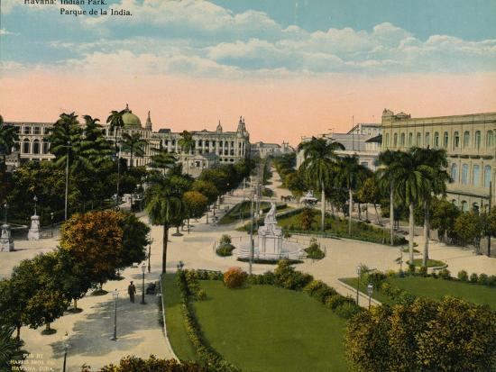 Parque de la India, Havana, Cuba, c1920-Unknown-Photographic Print
