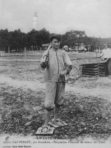 Parqueuse d'Huitres, Oyster Gatherer, of Cap Ferret Near Arcachon in South- West France