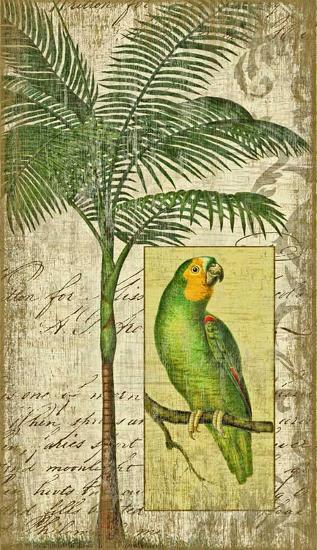 Parrot II--Wood Sign