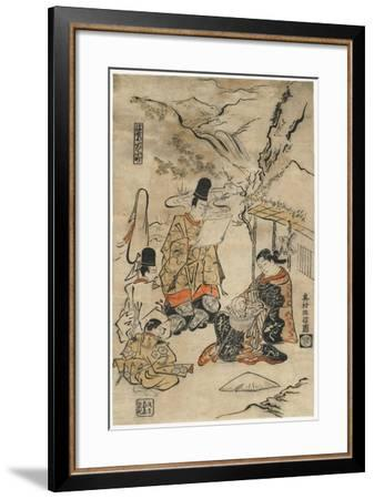 Parrot Komachi of the Floating World, 1711-1716-Okumura Masanobu-Framed Giclee Print