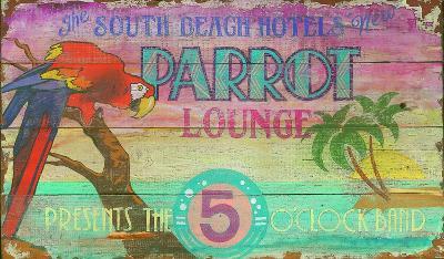 Parrot Lounge Vintage--Wood Sign