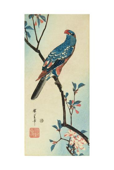 Parrot on a Branch-Ando Hiroshige-Giclee Print