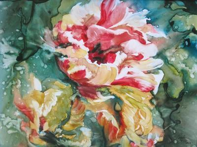 Parrot Tulips II-Paula Giltner-Art Print