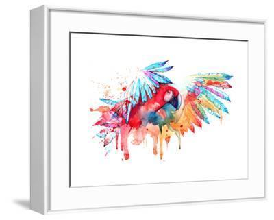 Parrot-okalinichenko-Framed Art Print