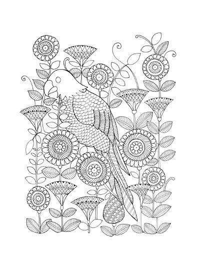 Parrot-Neeti Goswami-Art Print