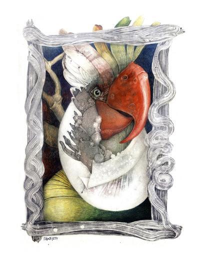 Parrot-Skarlett-Giclee Print