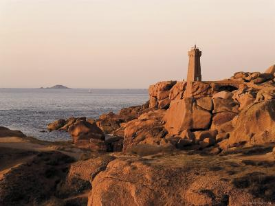 Pars-Kamor Lighthouse, Breton Corniche, Cotes d'Armor, France-David Hughes-Photographic Print