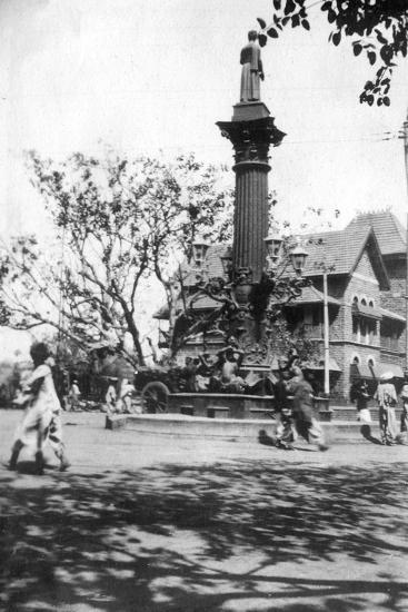 Parsee's Memorial Fountain, Mumbai, India, C1918--Giclee Print