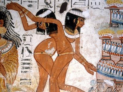 Part of a Banquet Scene from the Tomb of Nebamun--Giclee Print