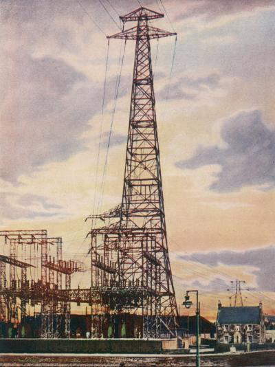 Part of Britain's National Grid This is the Sub-Station at Yoker Near Glasgow Scotland--Photographic Print