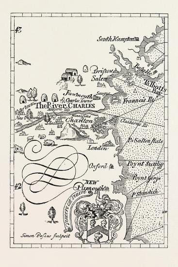 Part of Captain J. Smith's Map of New England. from Advertisements for the Unexperienced Planters o--Giclee Print