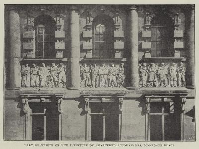 Part of Frieze of the Institute of Chartered Accountants, Moorgate Place--Giclee Print