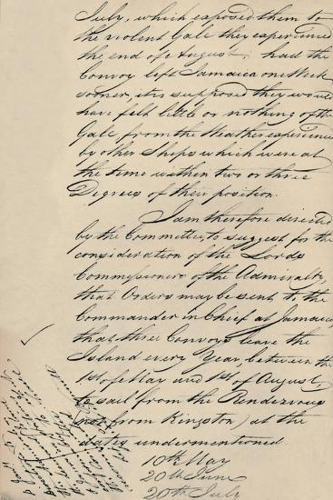 'Part of Letter Dated 31 December 1806 from Lloyd's to the Admiralty', (1928)-Unknown-Giclee Print