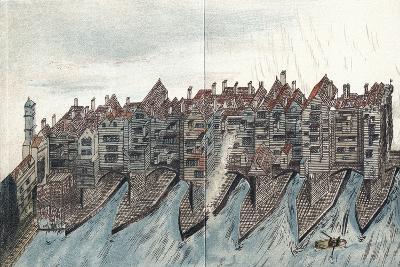 Part of Old London Bridge, C1600--Giclee Print