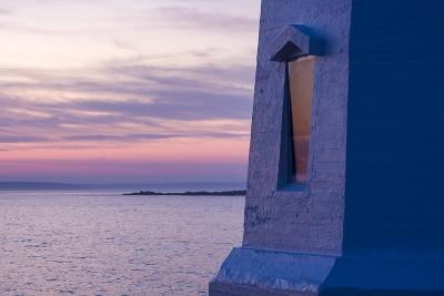 Part of Peggy's Point Lighthouse and Atlantic Ocean at Twilight-Jonathan Irish-Photographic Print
