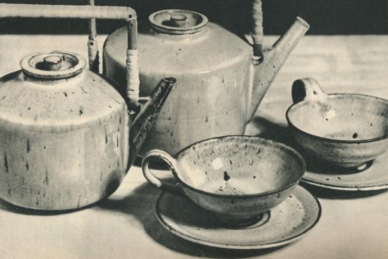 'Part of Tea Service by the Werkstatten der Stadt Halle', 1928-Unknown-Photographic Print