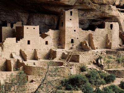 Part of the Cliff Palace at Mesa Verde Showing Dwellings and Kivas