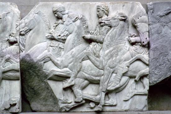 Part of the Elgin Marbles from the Parthenon, 5th century BC. Artist: Unknown-Unknown-Giclee Print