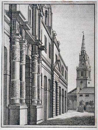 Part of the King's Mews with the Church of St Martin-In-The-Fields, Westminster, London, C1750