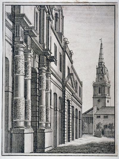 Part of the King's Mews with the Church of St Martin-In-The-Fields, Westminster, London, C1750--Giclee Print