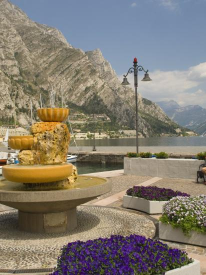 Part of the Lakeside Gardens, Looking North over the Lake, Limone, Lake Garda, Lombardy, Italy-James Emmerson-Photographic Print