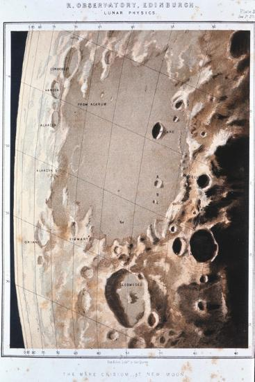 Part of the Lunar Surface, 1857--Giclee Print