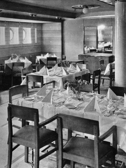 'Part of the Tourist Dining Saloon', 1935-Unknown-Photographic Print