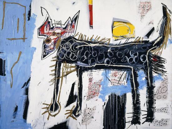 Part Wolf-Jean-Michel Basquiat-Premium Giclee Print