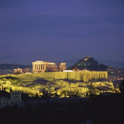Parthenon and the Acropolis at Night, UNESCO World Heritage Site, Athens, Greece, Europe-Roy Rainford-Photographic Print