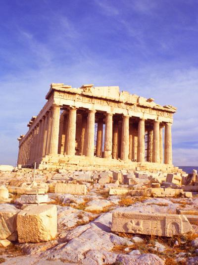 Parthenon on Acropolis, Athens, Greece-Bill Bachmann-Photographic Print