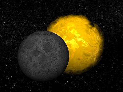 Partial Eclipse of the Sun--Art Print