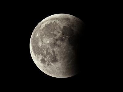 Partial Phase of a Lunar Eclipse Photographed Through a Small Amateur Telescope-Babak Tafreshi-Photographic Print