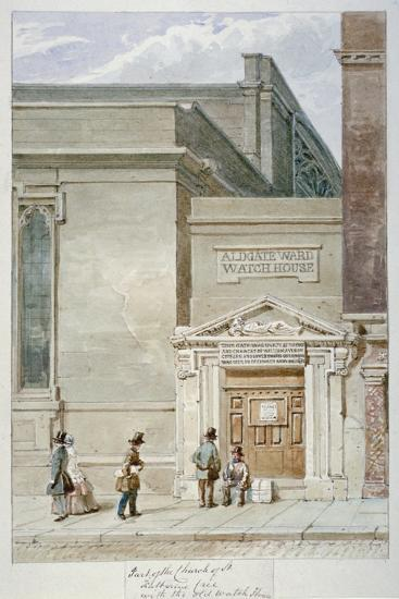 Partial View of St Katherine Cree and the Aldgate Watch House, City of London, 1830-James Findlay-Giclee Print