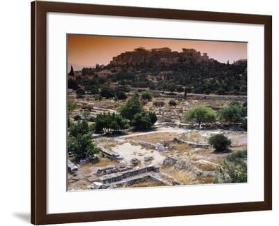 Partial View of the Agora and the Acropolis in the Background, Athens--Framed Giclee Print