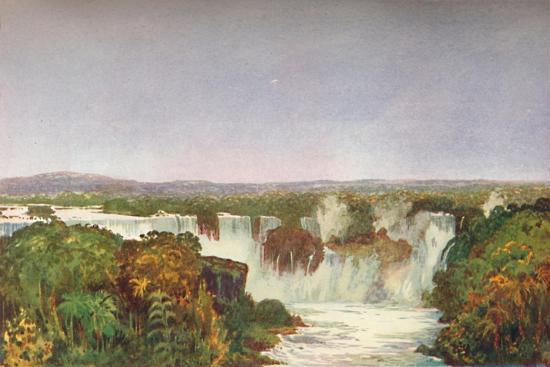'Partial View of the Falls of Iguassu', 1914-Unknown-Giclee Print