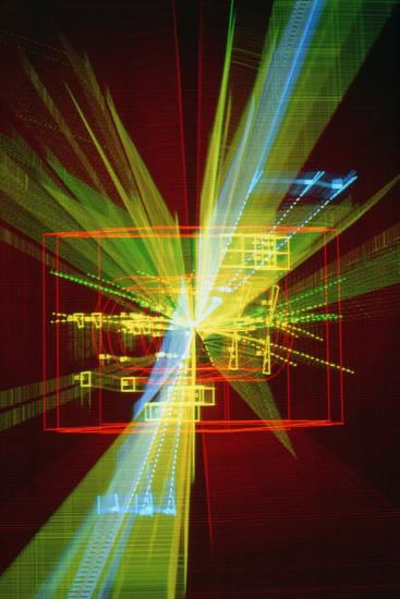 Particle Interaction At CERN-David Parker-Photographic Print