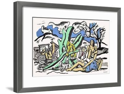 Partie De Campagne-Fernand Leger-Framed Premium Edition