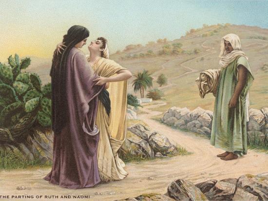 Parting of Ruth and Naomi--Art Print