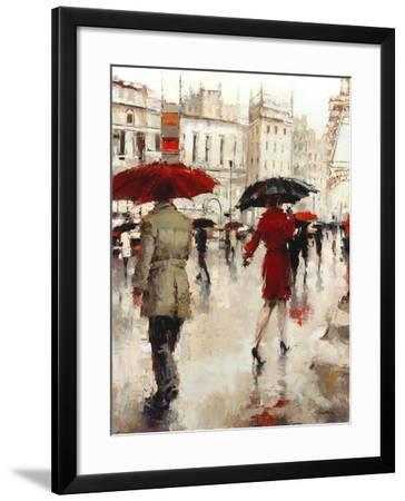 Parting on a Paris Street-Lorraine Christie-Framed Art Print