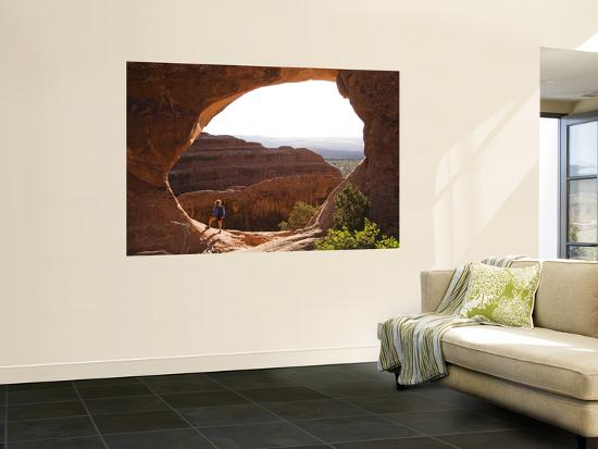 Partition Arch with Woman, Devil's Garden-John Elk III-Wall Mural