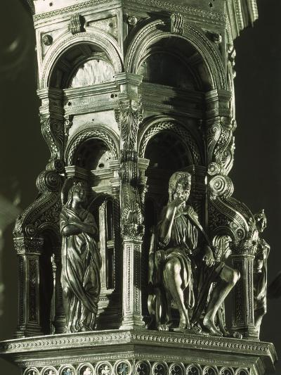 Partly Enameled Silver Cross for Altar of Florence Baptistery-Antonio Benci-Giclee Print
