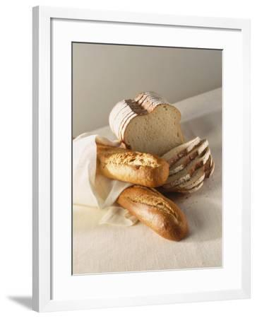 Partly Sliced Bread and Baguettes-Diana Miller-Framed Photographic Print