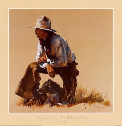 Partnership By William Mathews Western Print 28x29