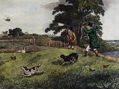 Partridge Hunting, 1835-Henry Alken-Giclee Print