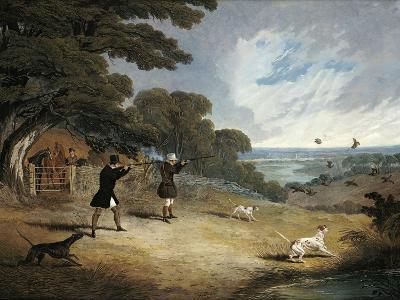 Partridge Shooting at Six Mile Bottom, 1833-John Frederick Herring I-Giclee Print
