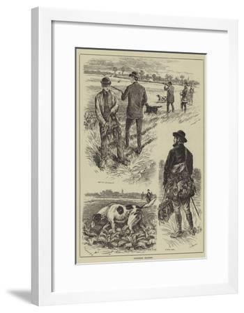 Partridge Shooting--Framed Giclee Print