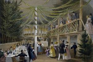Party at Hotel Europa in Vienna, Print, Austria, 19th Century
